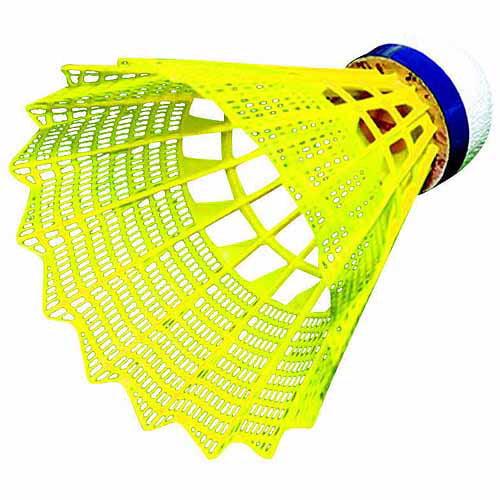 Sportime Tournament Yeller Badminton Shuttlecock Set, Yellow, Set of 6