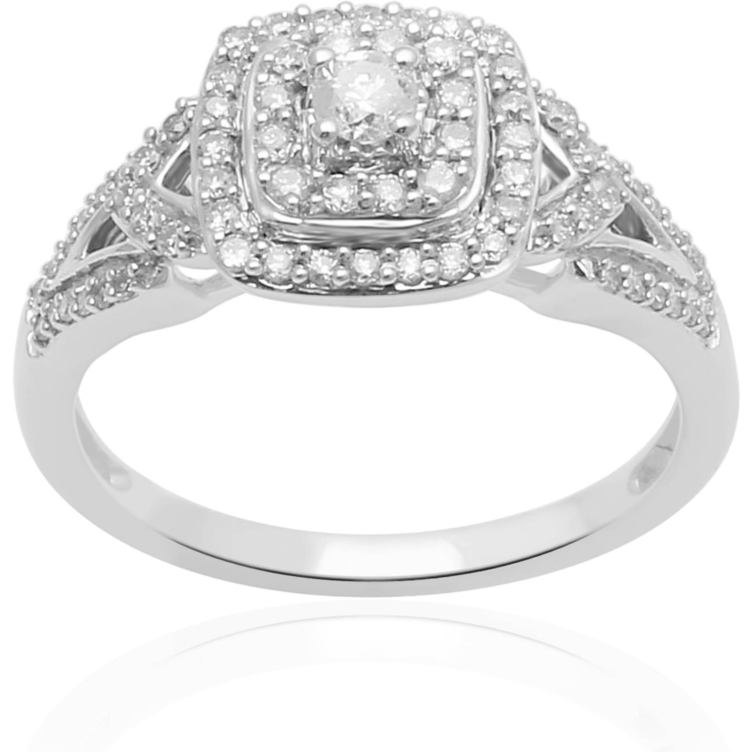 Forever Bride 1/2 Carat T.W. Diamond Sterling Silver Anniversary Ring