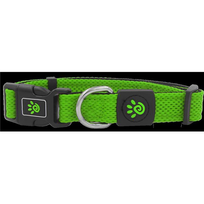 Doco DCA102-07L Puffy Mesh Collar, Light Green - Large