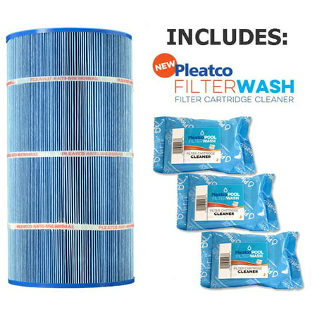 Pleatco Cartridge Filter PA90-M Hayward Star-Clear Plus C900 Sta-Rite PXC-95 (Antimicrobial) open w/molded gasket  CX900-RE 25230-0095S (Antimicrobial)  w/ 3x Filter Washes