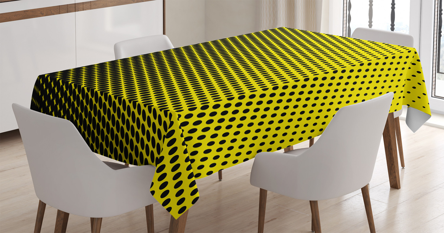 Fashion Printed T-Shirts Ombre Themed Yellow Background with Black Dots from Big