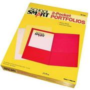 "School Smart 2-Pocket Portfolio, 8.5"" x 11"", Box of 25"