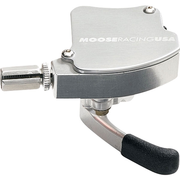 Moose Racing ATV Thumb Throttle Polished Silver