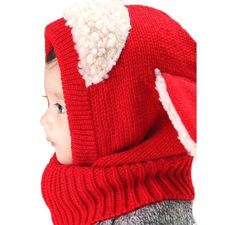 88b9c6495 Esho Toddler Baby Kids Girl Boy Winter Warm Woolen Scarf Caps Cartoon Hats