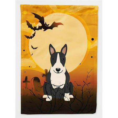 Carolines Treasures BB4400CHF Halloween Bull Terrier Red Flag Canvas House Size - image 1 de 1