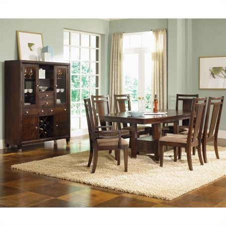 broyhill dining room sets broyhill northern lights 7 piece dining table set in dark walnut walmart com 9290
