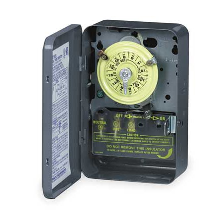INTERMATIC T103R Electromechanical Timer,24-Hr,40A,3R