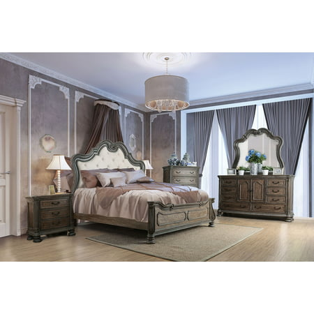 Traditional Bedroom Furniture 4pc Set California King Size Bed