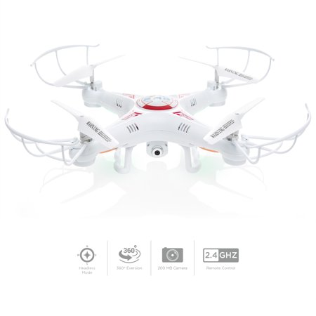Best Choice Products RC 6-Axis Quadcopter Flying Drone Toy With Gyro and Camera Remote Control LED (World Tech Toys Gyro Hercules Unbreakable Rc Helicopter)