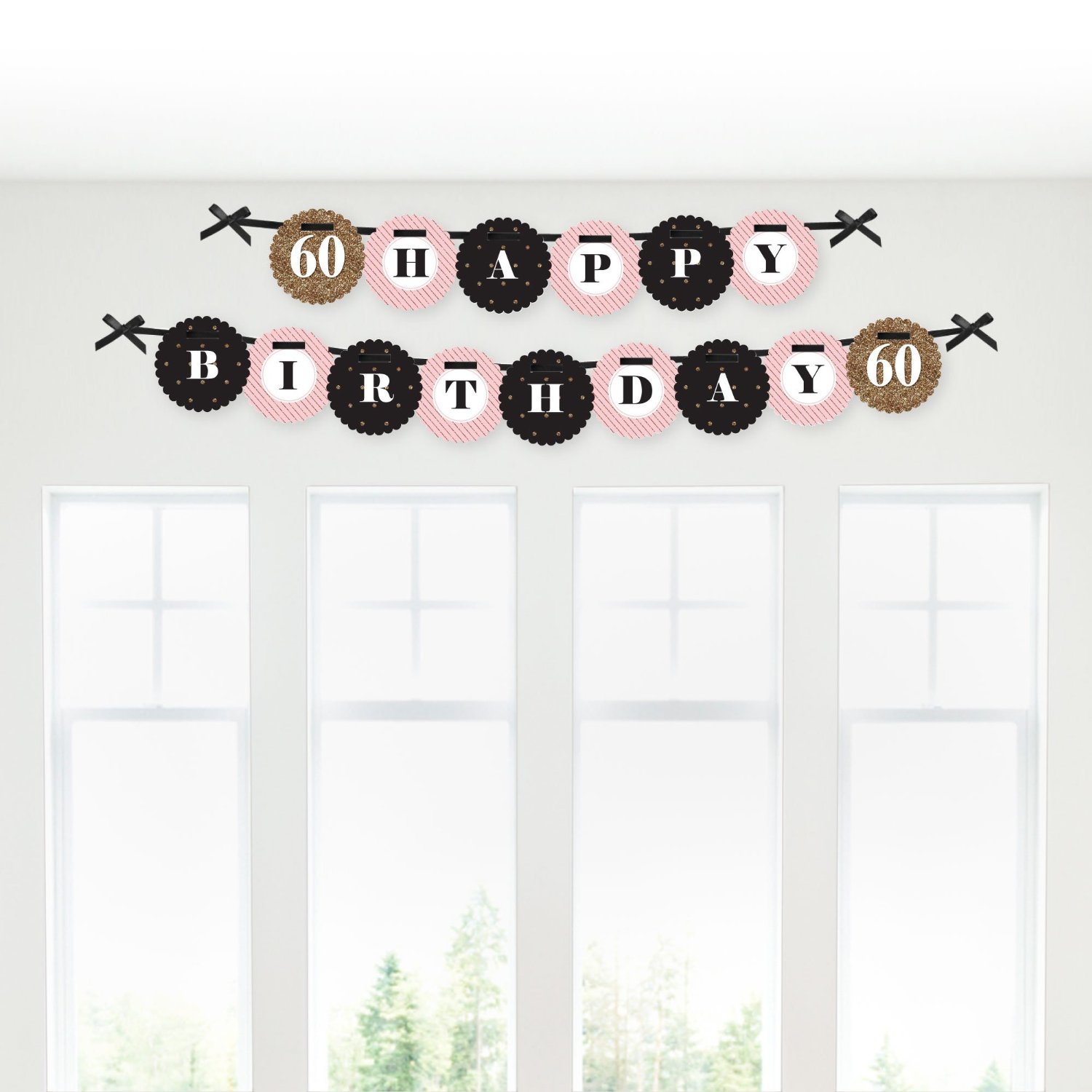 Chic 60th Birthday - Party Garland Banner