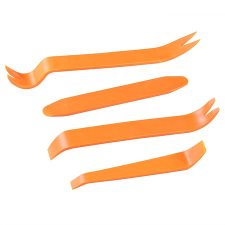 4 Pry Car Door Panel Clip Removal Tool Kit Trim Radio Dashboard Interior Plastic (Trim Plane)