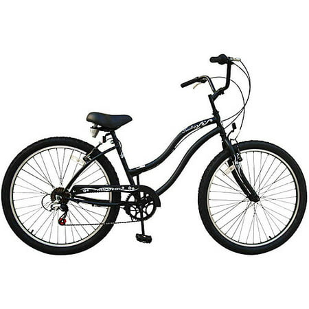 26 micargi touch 7sp women 39 s beach cruiser bike matte black. Black Bedroom Furniture Sets. Home Design Ideas