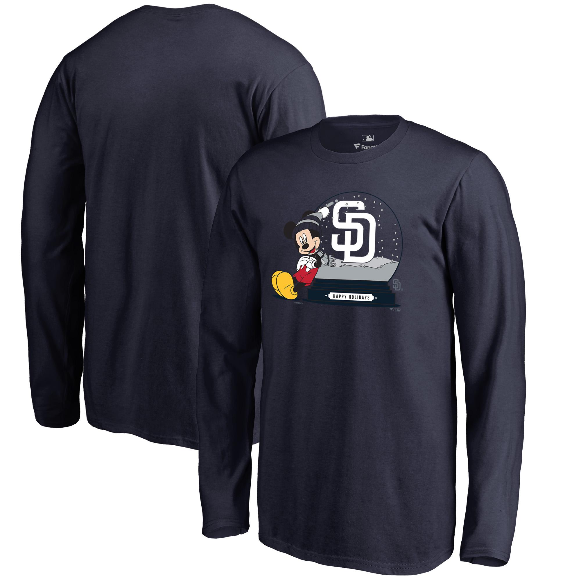 San Diego Padres Fanatics Branded Youth Disney Snow Globe Long Sleeve T-Shirt - Navy