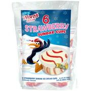 North Star Strawberry Sundae Cups, 6 - 4 oz cups
