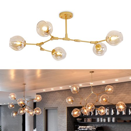 Industrial Branching Vintage Ceiling Chandelier Lights Home Pendant Lamp Fixture