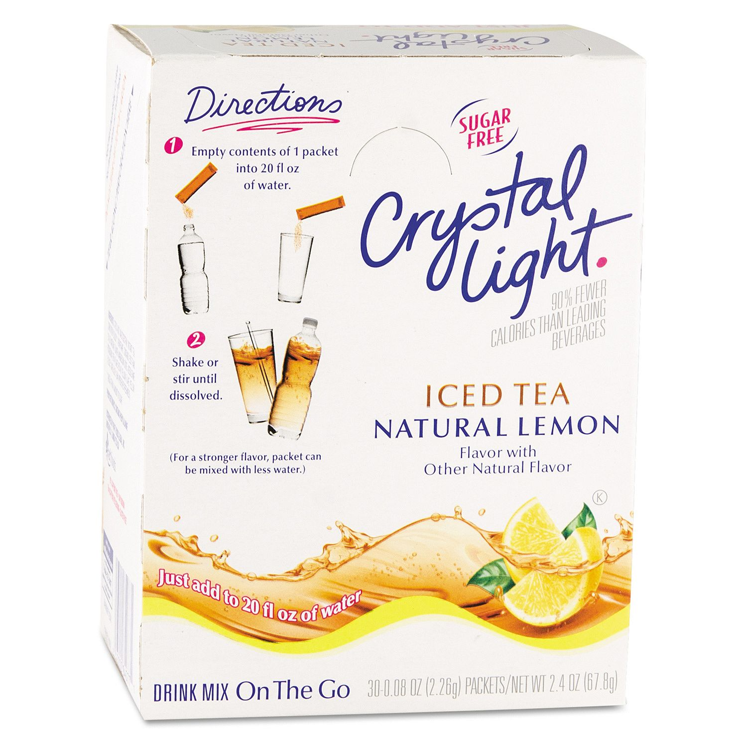 Crystal Light On the Go Drink Mix, Iced Tea (.16 oz. pack...