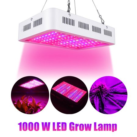 1000W Led Grow Light Hilitand Full Spectrum 100 LED Plant Grow Light Hydroponics Vegs Flowering Panel Lamp, Grow Light Bulb, Led Grow