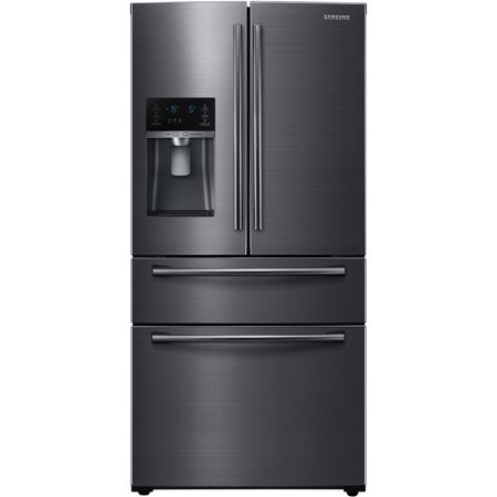 Samsung RF25HMEDBSG 25 Cu. Ft. Black Stainless 4-Door French Door Refrigerator