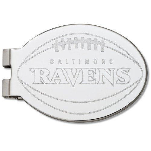 LogoArt NFL Laser Etched Silver Plated Money Clip