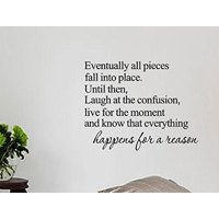 Eventually All Pieces Fall into Place Inspirational Quotes and Saying Vinyl Wall Art Home Decor Decal Sticker