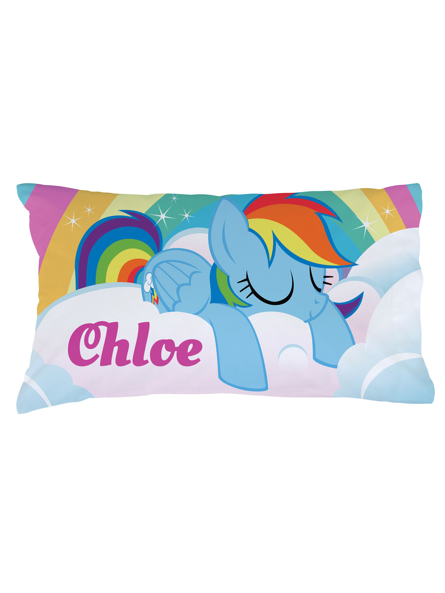 Personalized Kids Pillowcase - My Little Pony Girl's Rainbow Dash - Walmart.com