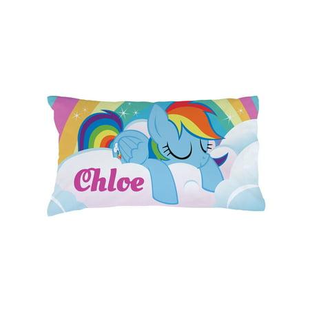 Personalized Kids Pillowcase - My Little Pony Girl's Rainbow Dash