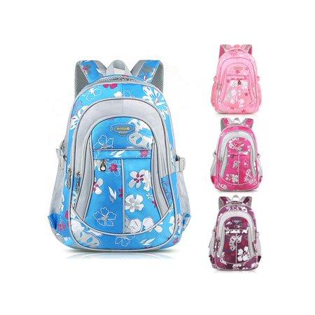 New Children Canvas Flower Backpack For Adults Boy Girl School Rucksack Bookbag Satchel