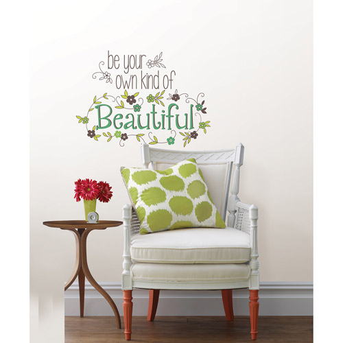 "Wall Pops ""Be Your Own Kind Of Beautiful"" Wall Quote Decal"