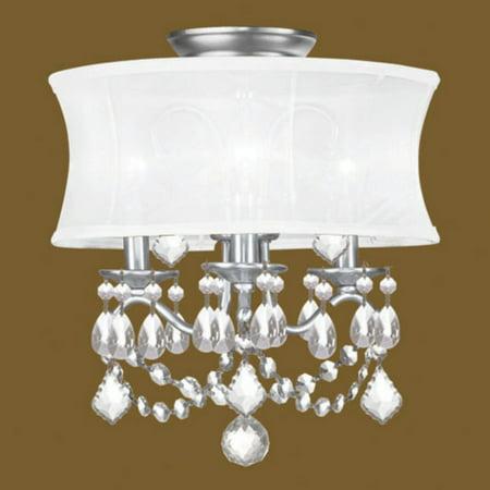 Livex Lighting Newcastle 3 Light Convertible Chain Hang/Ceiling (Livex Light Fixture)