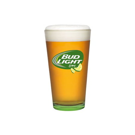 Bud Light Lime Beer Glass   Set Of 2 Glasses  Set Of 2 One Pound Pint Glasses By Anheuser Busch Budweiser Usa