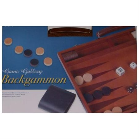 Deluxe Wood Backgammon Game Tournament Size In Case