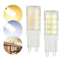 G9 LED Corn Bulb Lamp Light 40W Equivalent Halogen 6000K 5W 2835 40-SMD Daylight Home White/Warm White