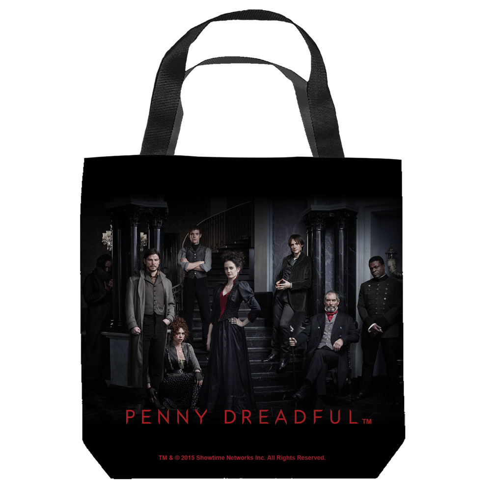 Penny Dreadful Stair Cast Tote Bag White 9X9