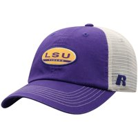 Men's Russell Athletic Purple/Tan LSU Tigers Bred Adjustable Snapback Hat - OSFA