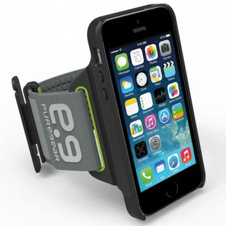 hot sale online 732d0 d8aac iPhone 5 Armband, PUREGEAR PUREMOVE BLACK/LIME ARMBAND CASE FOR APPLE  iPHONE SE 5 5s 5c (small/medium, 7-12