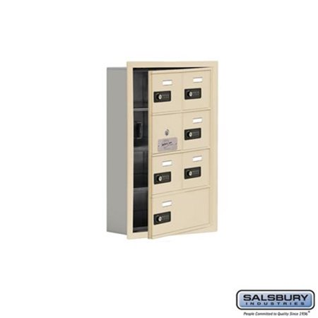 Salsbury 19145-07SRC 16.25 x 24.25 x 5.75 in. Cell Phone Storage Locker with Front Access Panel - Recessed Mounted, Resettable Combination Locks - Sandstone - image 1 de 1