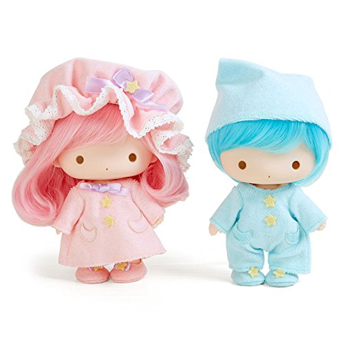 Little Twin Stars Soft Vinyl Doll Set (Pajamas) Sanrio Kiki Lala