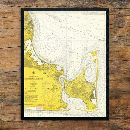 Edgartown Harbor - Edgartown Harbor Nautical Chart Print