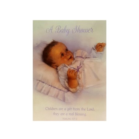 Carlton Cards Baby Shower Invitations Children Are A Gift...PSALMS 127:3 w/ Envelopes (Carlton Cards)
