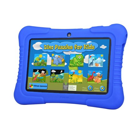 7  Inch Android 4 4 Quad Core Hd Tablet Pc Mid 16G Dual Camera Wifi Bundle Blue Silicone Case