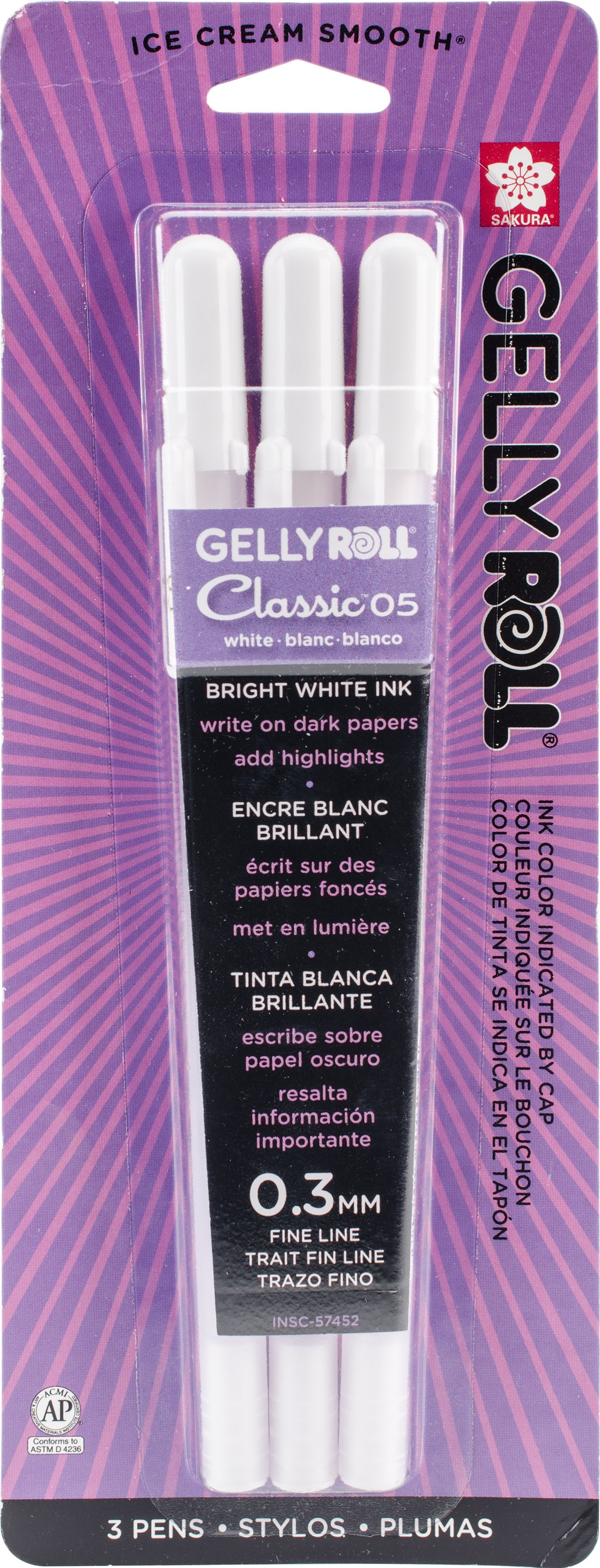 Gelly Roll Classic Fine Point Pens 2//Pkg-White