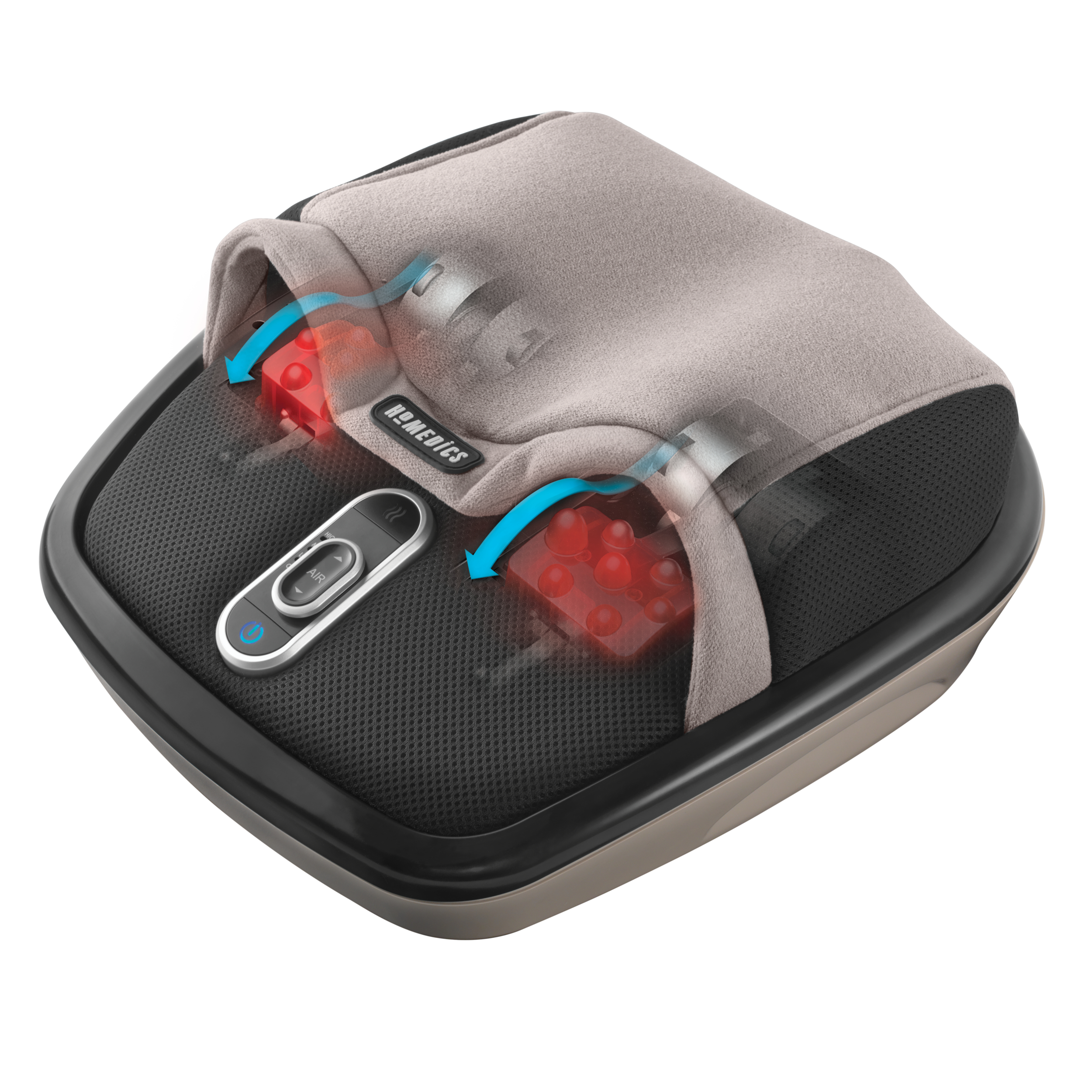 HoMedics Air Compression + Shiatsu Foot Massager, Shiatsu Air MAX FMS-305H