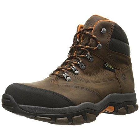 Wolverine Men's Harden Hiker GTX Steel-Toe EH Work Boot, Brown/Orange,