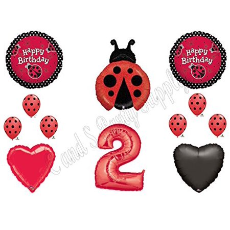 SECOND 2ND LADYBUG BIRTHDAY PARTY Balloons Decorations Supplies NEW - Ladybug Birthday