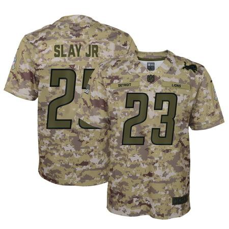 Darius Slay Jr Detroit Lions Nike Youth Salute to Service Game Jersey - Camo Detroit Lions Youth Uniform