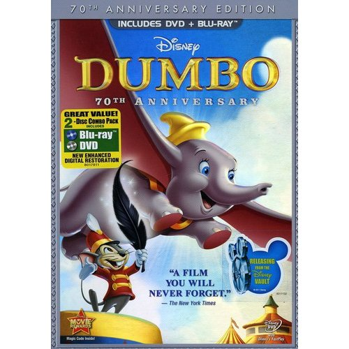 Dumbo (70th Anniversary Edition) (DVD + Blu-ray) (Full Frame)