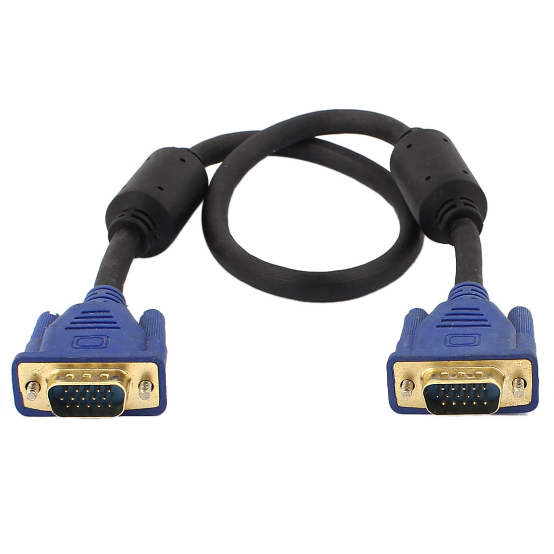 Blue 15 Pin SVGA VGA Adapter Monitor M/M Male To Male Cable Cord For PC TV