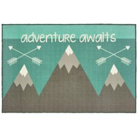 """Your Zone Adventure Tufted Nylon Accent Rug, Teal, 3'3""""x5'"""