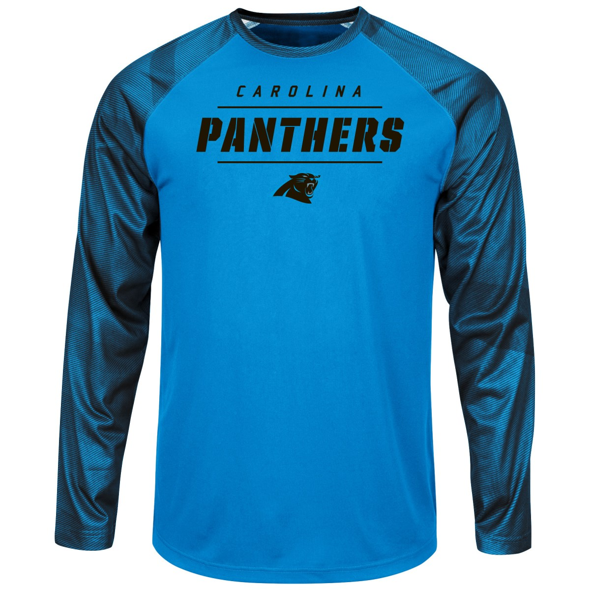"Carolina Panthers Majestic NFL ""League Rival"" Men's Cool Base L S Shirt by Majestic"