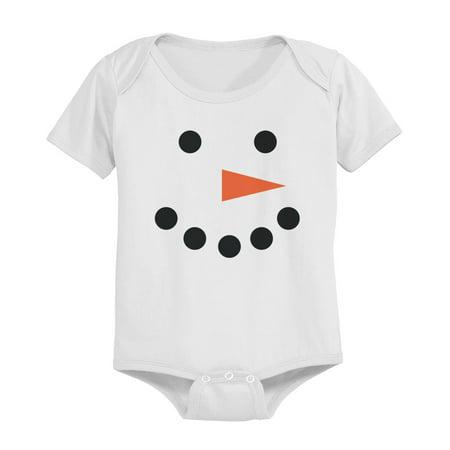 Snowman Baby Snap-on Bodysuit Christmas White Bodysuit (White Wolf Onesie)